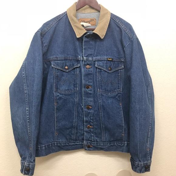 51a781ed Wrangler Jackets & Coats   Vintage Western Denim Jacket Size M ...